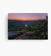 Sunset on the New River Gorge, West Virginia Canvas Print