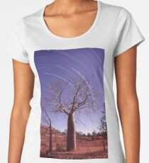 Boab tree and star trails Women's Premium T-Shirt