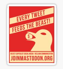 Every Tweet Feeds The Beast! Sticker