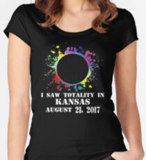 I saw Totality in KANSAS Women's Fitted Scoop T-Shirt