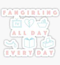 fangirling Sticker