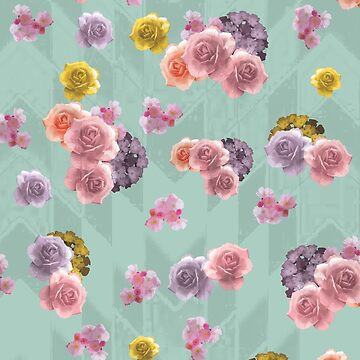 Geometric Floral Pattern A by Lus-Moonlight