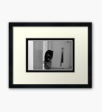LURKING Framed Print