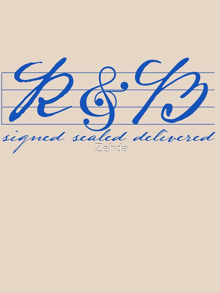 R & B signed sealed delivered by Zehda