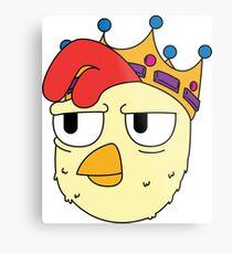 King Chicken Metal Print
