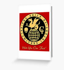 The Venture Brothers - Guild of Calamitous Intent Greeting Card