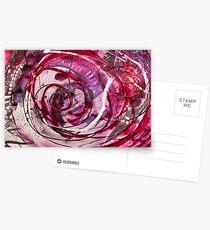 Spirals of Magenta and Black Postcards