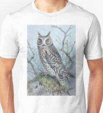 Scops Owl on Mushrooms T-Shirt
