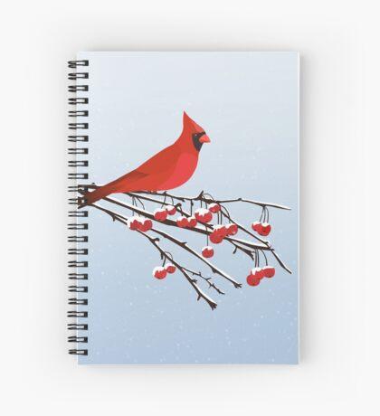 AFE Red Cardinal Spiral Notebook
