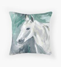 Horse by Nicole Mathieson Throw Pillow