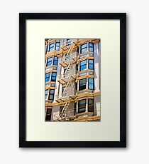 Exterior Fire Escape - San Francisco California - Canon 40D Framed Print