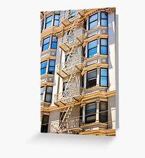 Exterior Fire Escape - San Francisco California - Canon 40D Greeting Card