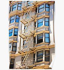 Exterior Fire Escape - San Francisco California - Canon 40D Poster