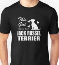 This Girls Loves Her Jack Russel Terrier Unisex T-Shirt