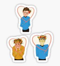 Triumvirate Valentines  Sticker