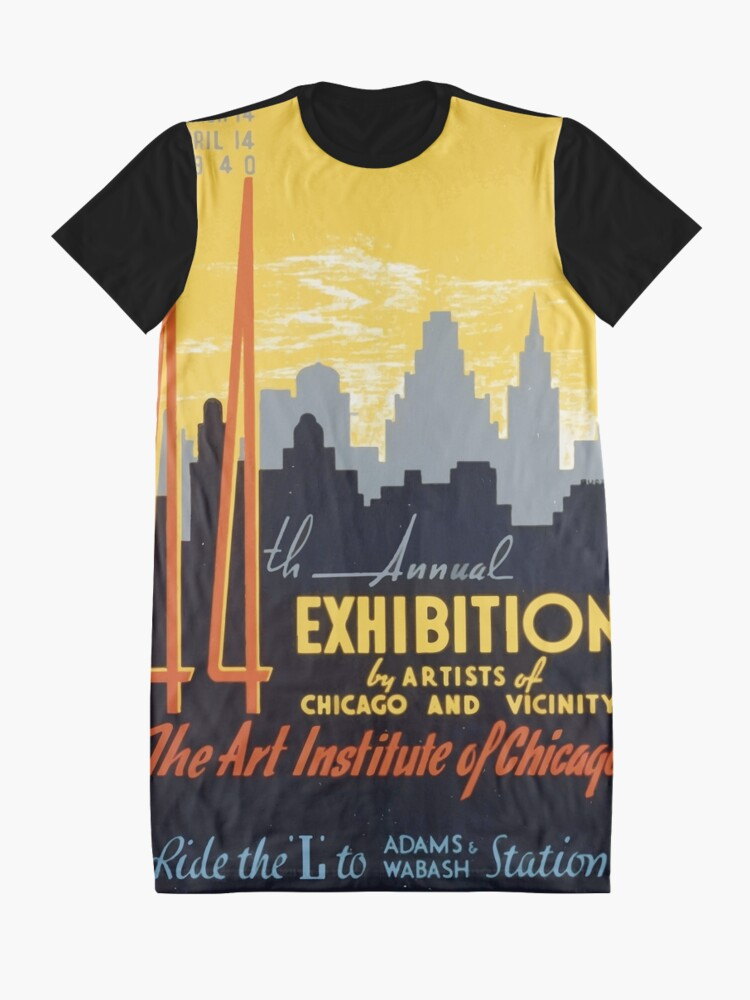 Alternative Ansicht von WPA United States Government Work Project Administration Poster 0267 44th Annual Exhibition by Artitsts of Chicago and Vicinity T-Shirt Kleid