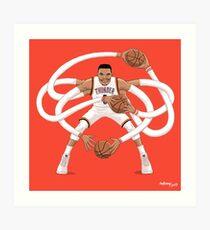 Mr. Triple Double Westbrook  Art Print