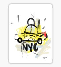 NYC New York poster Sticker
