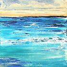 Ocean Dawn Triptych III by Kathie Nichols