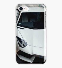 White Lamborghini iPhone Case/Skin