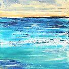 Ocean Dawn Triptych I by Kathie Nichols