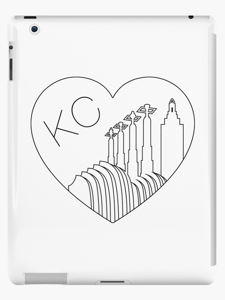 Line Drawing Ks : Vinilos y fundas para ipad «kansas city minimalist line