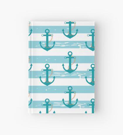AFE Nautical Anchor Pattern Hardcover Journal