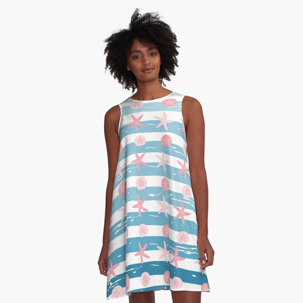 AFE Starfish Pattern A-Line Dress Front