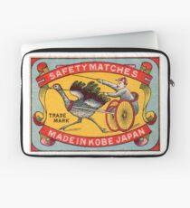 Antique Matchbox Label Ostrich Harness Racing Kobe Japan Laptop Sleeve