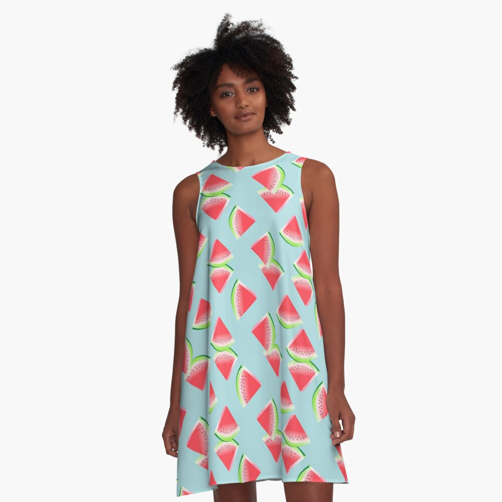AFE Watermelon Pattern 4 A-Line Dress Front