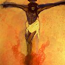 Jesus on the Cross orange tint by RealPainter