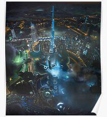 Innenstadt von Dubai Poster
