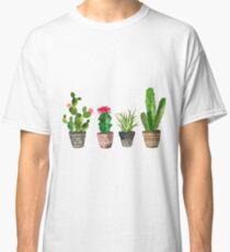 Aquarell Topf Succulents Muster Classic T-Shirt