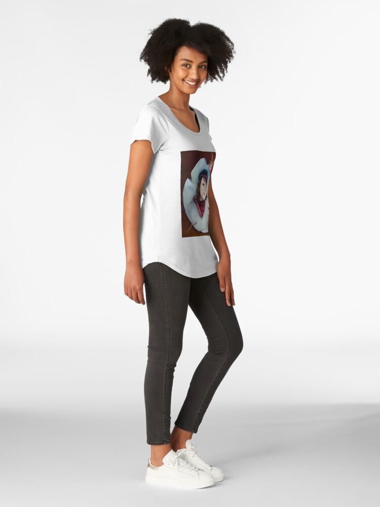 Vista alternativa de Camiseta premium de cuello ancho corona