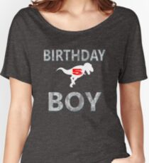 5th Birthday Shirt boy Age 5 Dinosaur Theme Women's Relaxed Fit T-Shirt