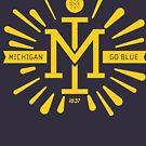 Retro Vintage Michigan Monogram by Chocodole