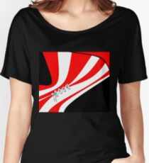 Candy Stripe Laced Corset Women's Relaxed Fit T-Shirt