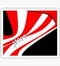 Candy Stripe Laced Corset Sticker