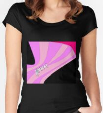 Laced Corset Shape Women's Fitted Scoop T-Shirt