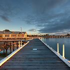 ON THE PIER, BARWON HEADS by Rick Knowles