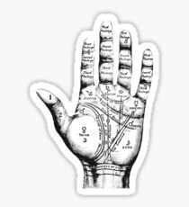Palm Reading-Diagramm Sticker