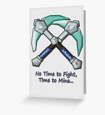 Minecraft Diamond Pickaxe Saying Greeting Card