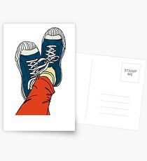 colored pattern gym shoes Postcards