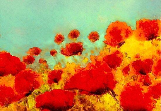 Poppy time  by Valerie Anne Kelly