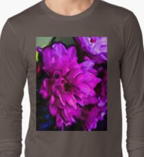 Lavender and Pink Flower with some Blue T-Shirt