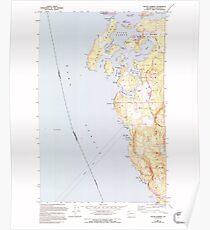 USGS Topo Map Washington State WA Roche Harbor 243488 1954 24000 Poster