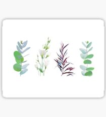 Mix of herbs and plants vector big collection. Sticker