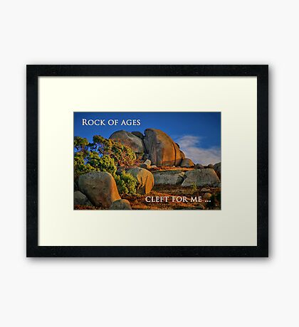"""""""Cleft For Me"""" Framed Print"""