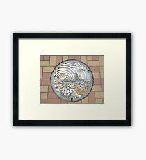 Eboshi Rock Manhole Framed Print