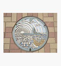 Eboshi Rock Manhole Photographic Print